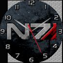 Mass Effect Systems Alliance N7 Sidebar Clock by ChrisInVT