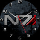 Mass Effect Systems Alliance N7 Sidebar Clock