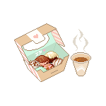Assorted donuts and latte by Ice-Pandora