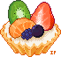 Pixel fruit tarts by Ice-Pandora