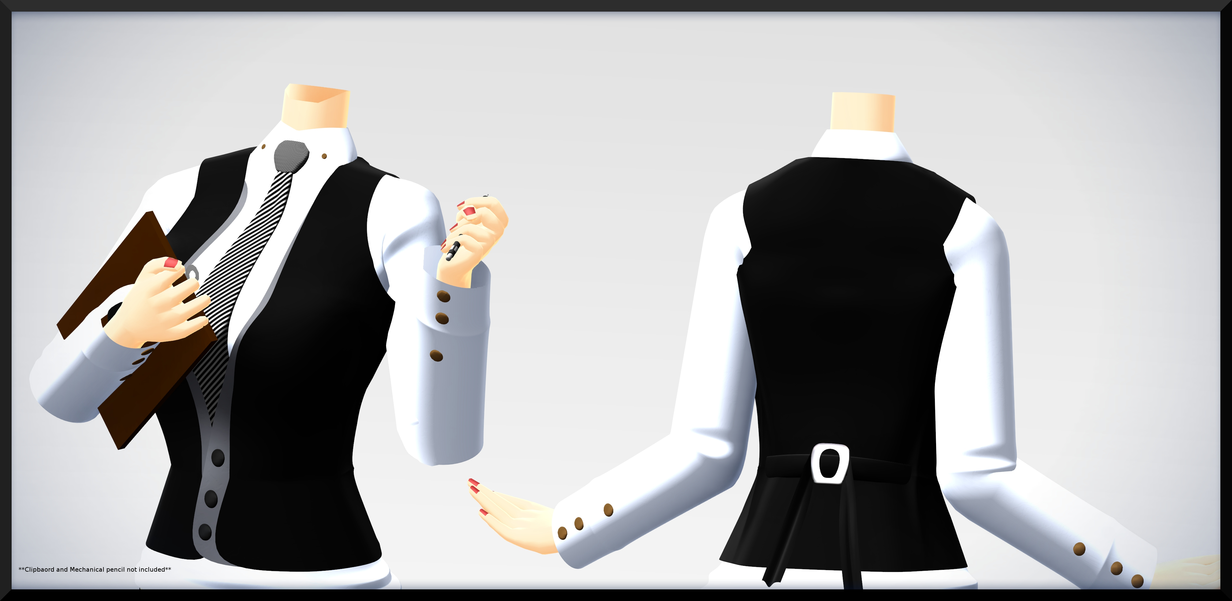 3 Button Vest- DL by MichiKairin