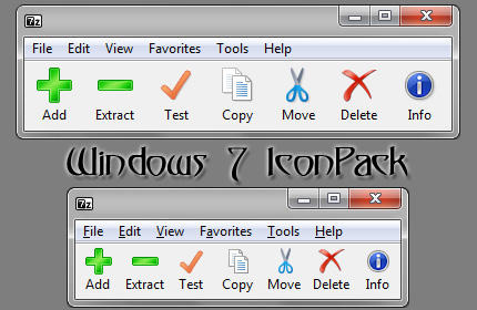 7 Zip Win7 Toolbar Icons By Devin On Deviantart