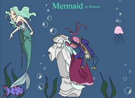 Mermaid Flash Dress up doll by Rinmaru
