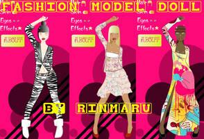 Fashion model doll by Rinmaru by Rinmaru