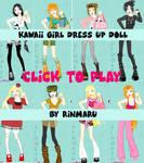 Kawaii girl dress up doll