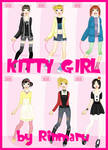 Kitty girl flash dress up doll
