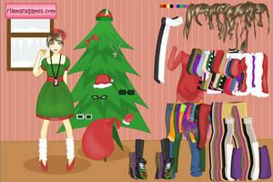 Holiday fashion doll by Rinmaru