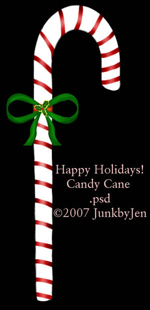 Painted Candy Cane Stock