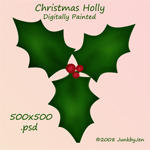 Painted Holly PSD Stock