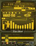 Fallout Pip-Boy 3000 Amber winamp v4