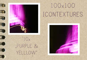 Purple and Yellow Icontextures by PinkMai