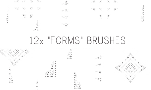 Forms Brushes by PinkMai