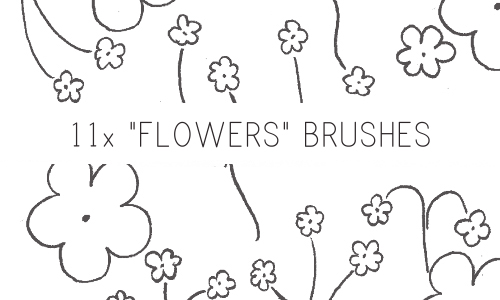 Flower Brushes by PinkMai