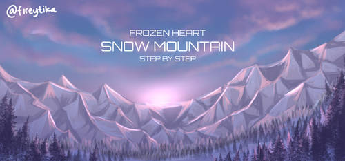 FH snow mountain painting steps