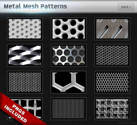 Metal Mesh Patterns - Pack 1 by Axertion