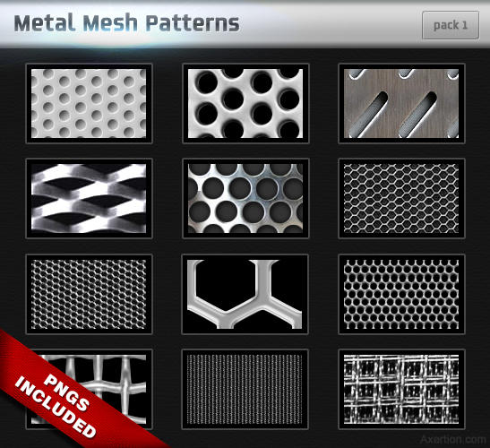 Metal Mesh Patterns - Pack 1