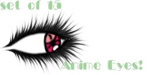 Anime Eyes - set of 15