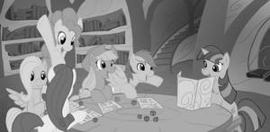 Ponies Play D and D eReader by jlryan