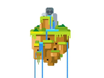 Pixel - Floating island by MrXimeno