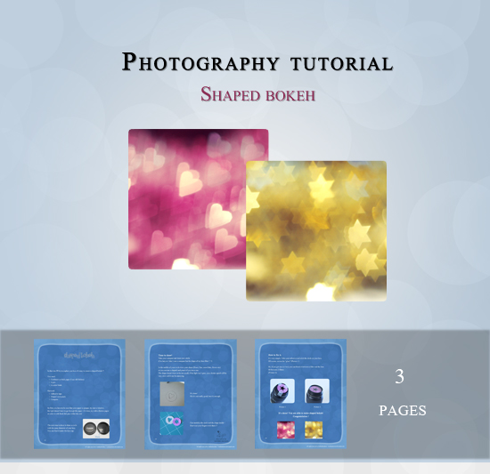 Shaped Bokeh Tutorial - 3 pages by andokadesbois