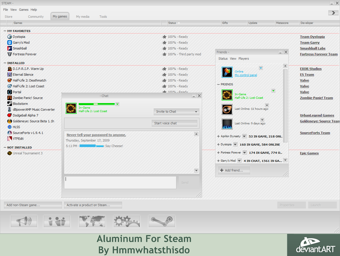 Aluminum For Steam v1.1 by hmmwhatsthisdo