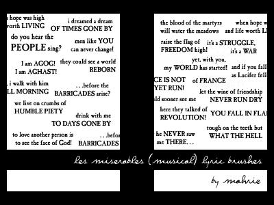 Les Miserables musical quotes by mah-rie
