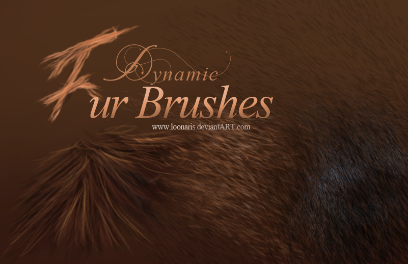 Dynamic FUR Brushes for Photoshop NEW *UPDATE 2.0*