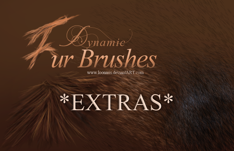 Dynamic FUR Brushes for Photoshop *EXTRAS*