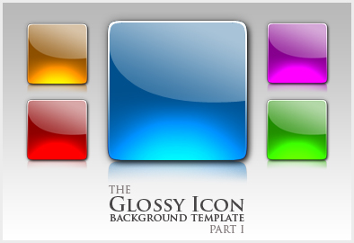 Glossy Icon template part I