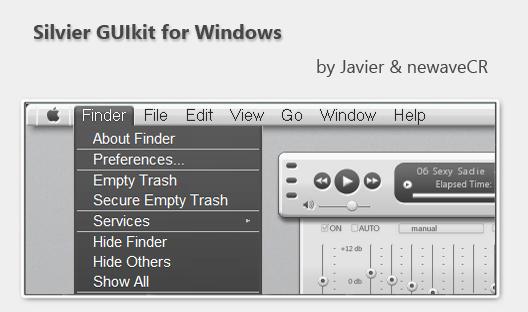 Silvier GUIkit for Windows by NewaveCR