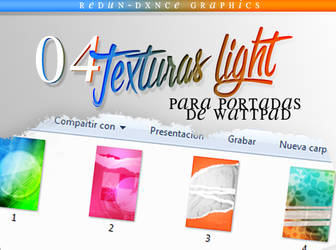 PACK DE 04 TEXTURAS LIGHT||PORTADAS WATTPAD by AdmireMyStyle