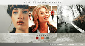 PSD COLORING #01 | ALWAYS by AdmireMyStyle