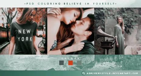 PSD COLORING #02| BELIEVE IN YOURSELF