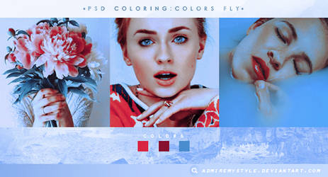 PSD COLORING #03| COLORS FLY