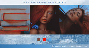 PSD COLORING #05 | SWEET GIRL by AdmireMyStyle