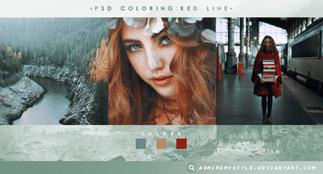 PSD COLORING #15 | RED LINE