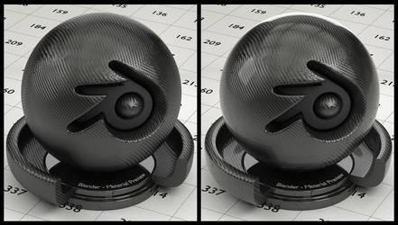 Carbon Fiber material for Blender (no UV's needed) by Nikola3D