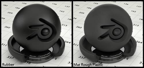 Basic Rubber/Plastic material for Blender by Nikola3D