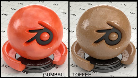 Toffee/Gumball material for Blender(no UVs needed)