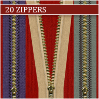 20 Zippers by Atenaispd