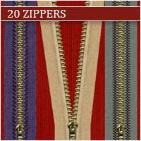 20 Zippers