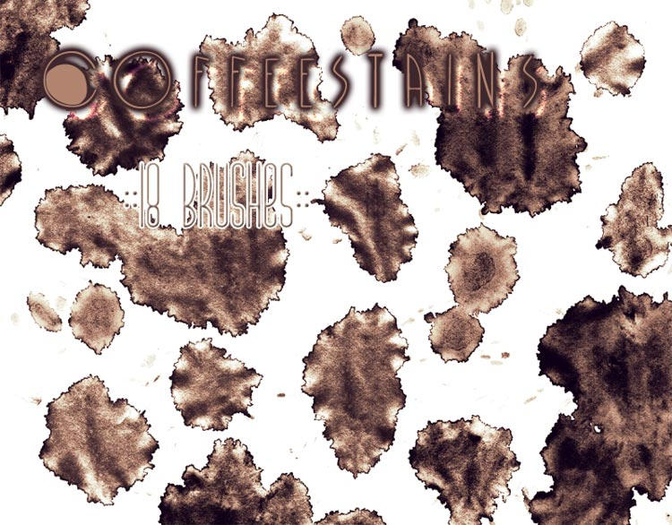 Coffee Stains Brushes by Sjetiska