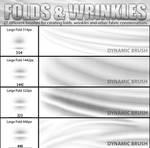 FOlds and Wrinkles Photoshop CS4 brushSAMPLE