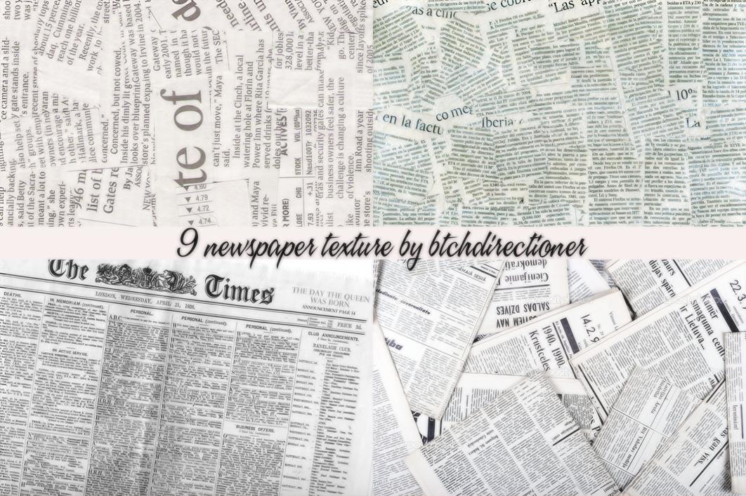 NEWSPAPER TEXTURE PACK 1 by btchdirectioner