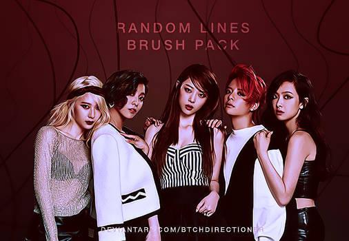 random lines brush pack