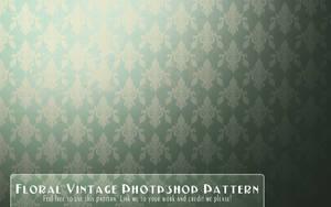 Vintage Floral Wallpaper pattern by EmZ565
