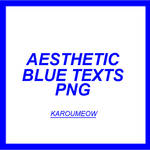 AESTHETIC BLUE TEXTS PACK