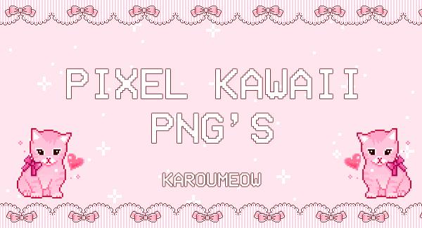 PIXEL KAWAII PNGS by KarouMeow