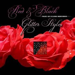 RedBlack Glitter Styles