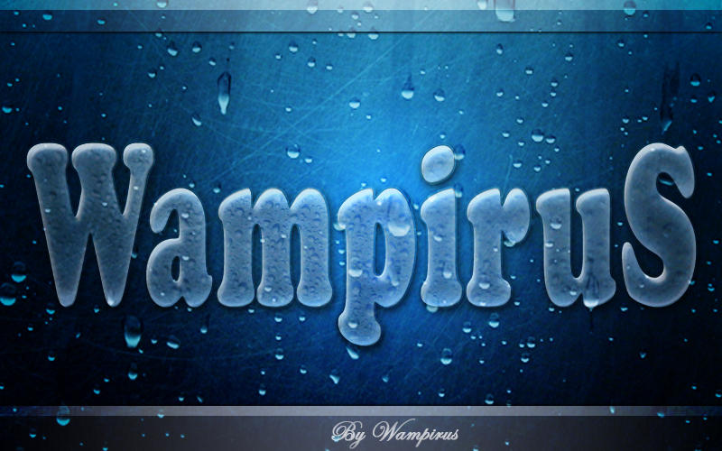 Wet and icy text effect by WampiruS